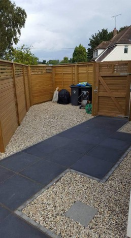 Back garden storage area