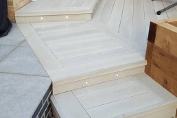 Composite deck porcelain slabs - Bishop's Stortford - North Essex Landscaping