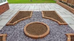 Garden flower beds & stones