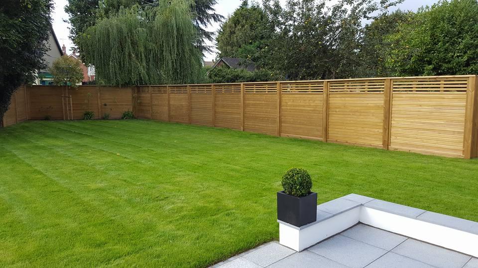 Garden grass area