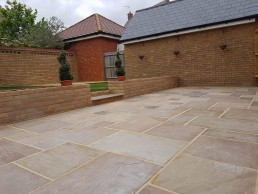 Patio, brickwork, decking & turfing - 1
