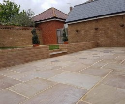 Patio, brickwork, decking & turfing - 4