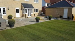 Patio & turfing - North Essex Landscaping